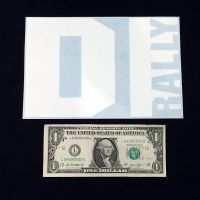 DIrally Rectangle Decal - Big / White (with Dollar for Scale)