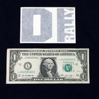 DIrally Rectangle Decal - Small / Black (with Dollar for Scale)