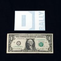 DIrally Rectangle Decal - Small / White (with Dollar for Scale)